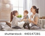 happy loving family. mother and ... | Shutterstock . vector #440147281