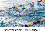 boy goes in for sports in the... | Shutterstock . vector #440150521