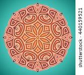 flower mandalas. vintage... | Shutterstock . vector #440159521
