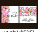 romantic invitation. wedding ... | Shutterstock .eps vector #440164999