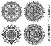flower mandalas. vintage... | Shutterstock . vector #440168929