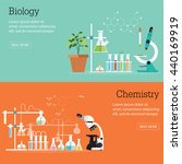 chemistry and biology... | Shutterstock .eps vector #440169919