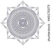 flower mandalas. vintage...   Shutterstock . vector #440170375