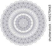 flower mandalas. vintage... | Shutterstock . vector #440170465