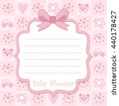 baby shower invitation card | Shutterstock .eps vector #440178427