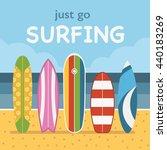 go surfing concept vector... | Shutterstock .eps vector #440183269