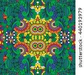lovely full frame floral design ... | Shutterstock .eps vector #440193979