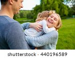 a happy family. happy mother... | Shutterstock . vector #440196589