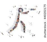 people pistol shooting sport 3d | Shutterstock . vector #440202175