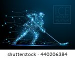 blue polygonal abstract ice... | Shutterstock . vector #440206384