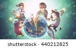 a cartoon illustration of a... | Shutterstock . vector #440212825