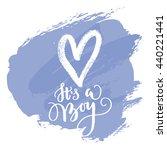 vector greeting card  baby... | Shutterstock .eps vector #440221441