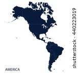 americas map | Shutterstock .eps vector #440223019