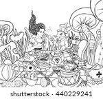 mad tea party. alice's...