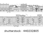 two hand drawn seamless city... | Shutterstock .eps vector #440232805