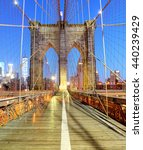 New York  Brooklyn Bridge At...
