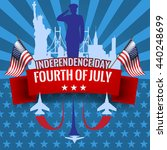 fourth of july. independence... | Shutterstock .eps vector #440248699