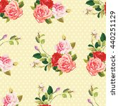 seamless floral pattern three... | Shutterstock .eps vector #440251129