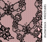 old lacy seamless pattern ... | Shutterstock .eps vector #440251681