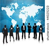 business people and world map | Shutterstock .eps vector #44025223