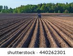 Tractor With A Seed Drill On A...