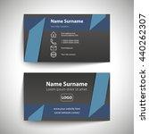 modern simple business card set ... | Shutterstock .eps vector #440262307