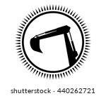 circle excavator excavation... | Shutterstock .eps vector #440262721