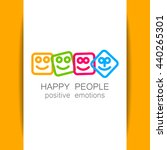 happy people logo template.... | Shutterstock .eps vector #440265301