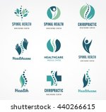 chiropractic  massage  back... | Shutterstock .eps vector #440266615