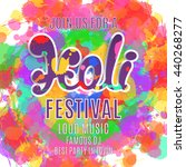holi festival poster. template... | Shutterstock . vector #440268277