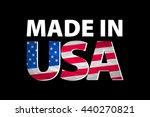 made in the usa logo art | Shutterstock . vector #440270821