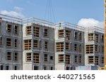 yellow crane and building... | Shutterstock . vector #440271565