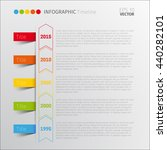 vertical vector infographic... | Shutterstock .eps vector #440282101