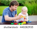 middle age father with his... | Shutterstock . vector #440282935