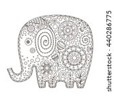 cute ethnic elephant. vector...