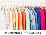 clothing rack | Shutterstock . vector #440287351