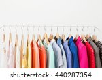 different clothes on the rack   Shutterstock . vector #440287354
