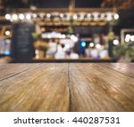 bar cafe restaurant table top... | Shutterstock . vector #440287531