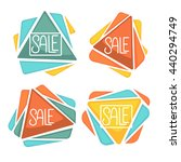 crystal sale icons and banners...   Shutterstock .eps vector #440294749