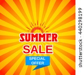 vector summer sale template... | Shutterstock .eps vector #440298199