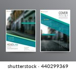 business template for brochure  ... | Shutterstock .eps vector #440299369