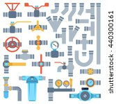 set of color details pipes... | Shutterstock .eps vector #440300161