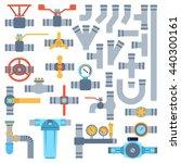 set of color details pipes...   Shutterstock .eps vector #440300161