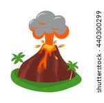 volcano eruption stromboli with ... | Shutterstock .eps vector #440300299