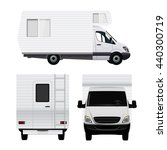 camper van in three view angles | Shutterstock .eps vector #440300719