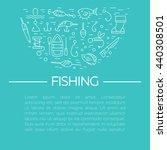 fishing icons set. summer...   Shutterstock .eps vector #440308501