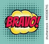 bravo comic book bubble text...