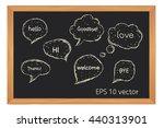 set hand drawn doodle speech...   Shutterstock .eps vector #440313901