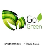 abstract eco leaves logo design ... | Shutterstock .eps vector #440315611