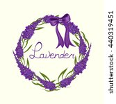 lavender . wreath of herbs in... | Shutterstock .eps vector #440319451
